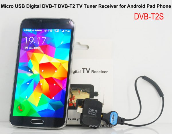 DVB-T2S Micro USB Digital DVB-T DVB-T2 TV Tuner Receiver 1 -