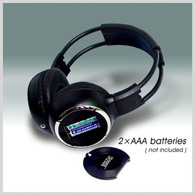 car wireless IR stereo TV headphone 1 -