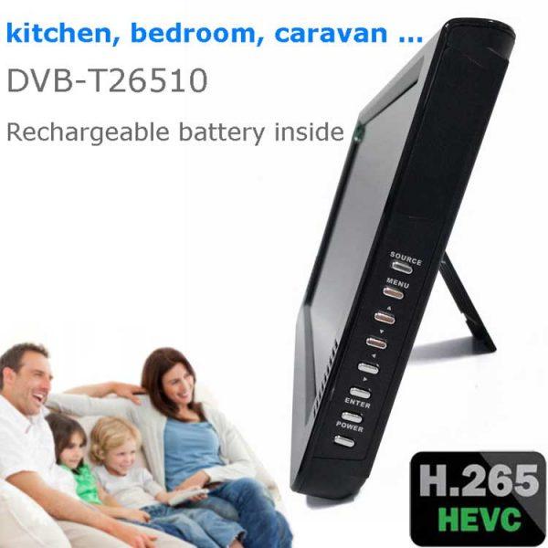 10 DVB-T2 H265 HEVC AC3 Codec Portable TV PVR Multimedia Player Analog kitchen bedroom car DVB-T26510 5 -