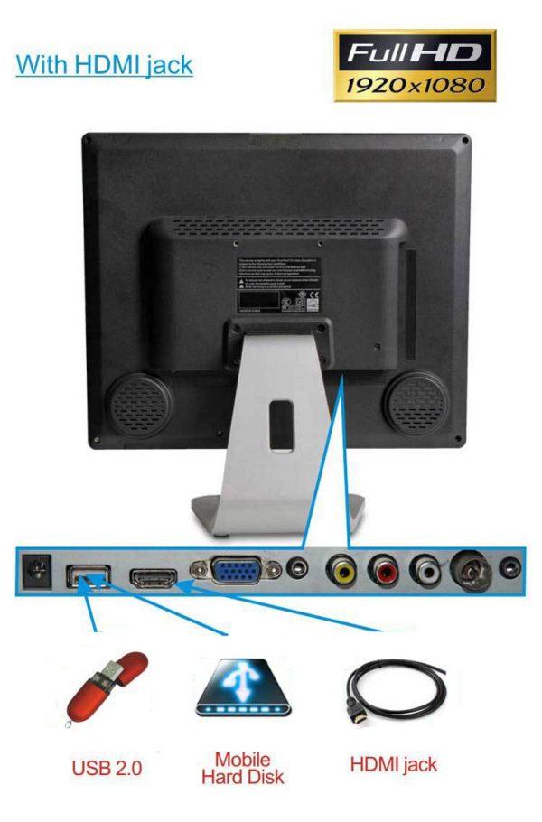 ISDB-T digital VGA LCD TV MPEG4 HD DTV with HDMI USB 4 -