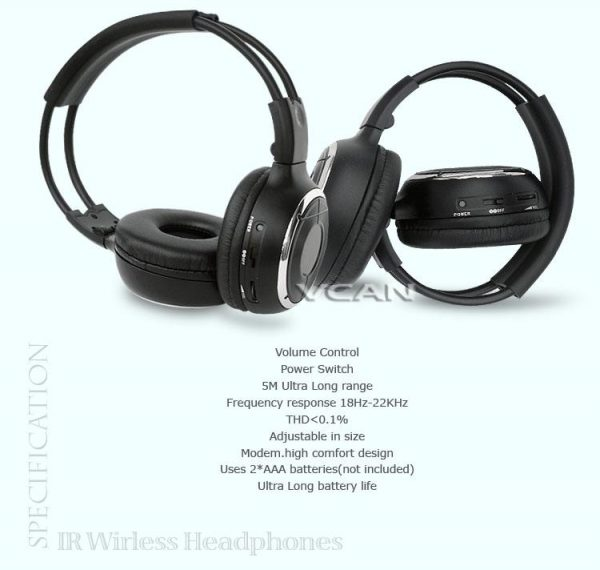 car wireless IR stereo TV headphone 4 -
