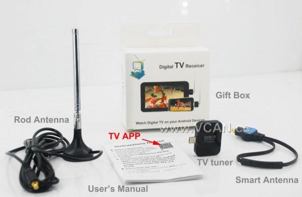 Micro USB Digital DVB-T DVB-T2 TV Tuner Receiver 6 -