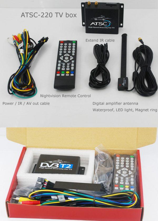 Car ATSC Digital TV receiver for USA Canada Mexico 6 -