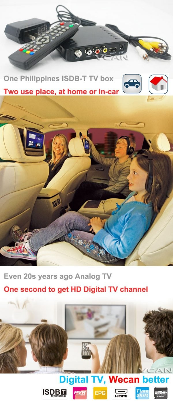 Car ISDB-T Philippines Digital TV Receiver 8 -