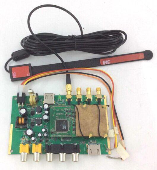 DVB-T24 Car DVB-T2 TV Receiver 4 Tuner 4 Antenna 4 -