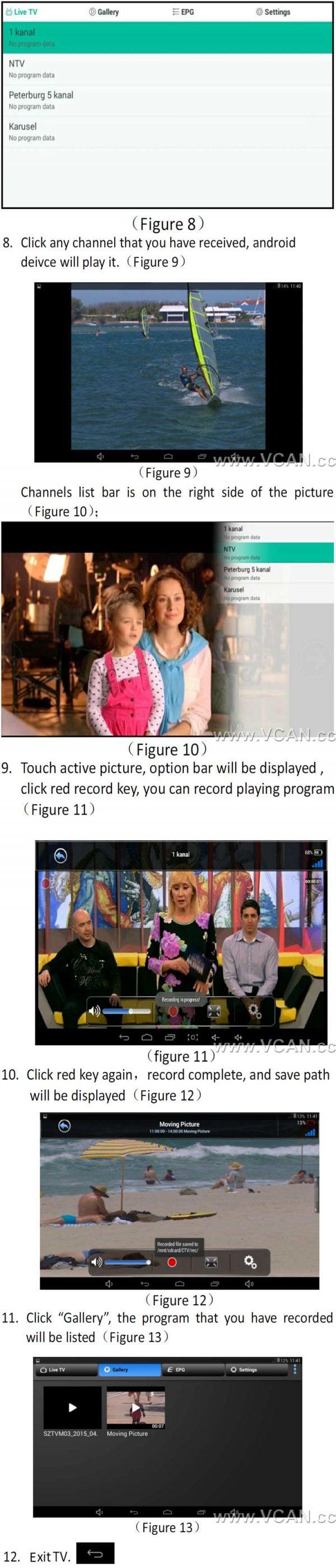 Micro USB Digital DVB-T DVB-T2 TV Tuner Receiver 9 -