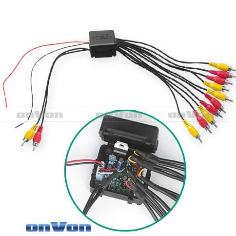 Audio Distribution signal Splitter Amplifier distribute 5 Output 4 -