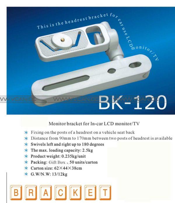 BK-120 Monitor Bracket for In-car LCD Monitor/TV 1 -