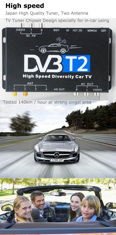 Mobil DVB-T2 Indonesia DVB-T High Speed Digital TV Receiver automobile DTV box DVB-T221 6 -