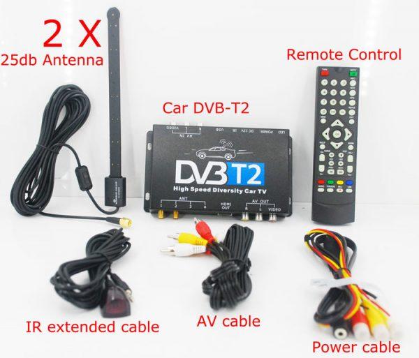 Mobil DVB-T2 Indonesia DVB-T High Speed Digital TV Receiver automobile DTV box DVB-T221 5 -