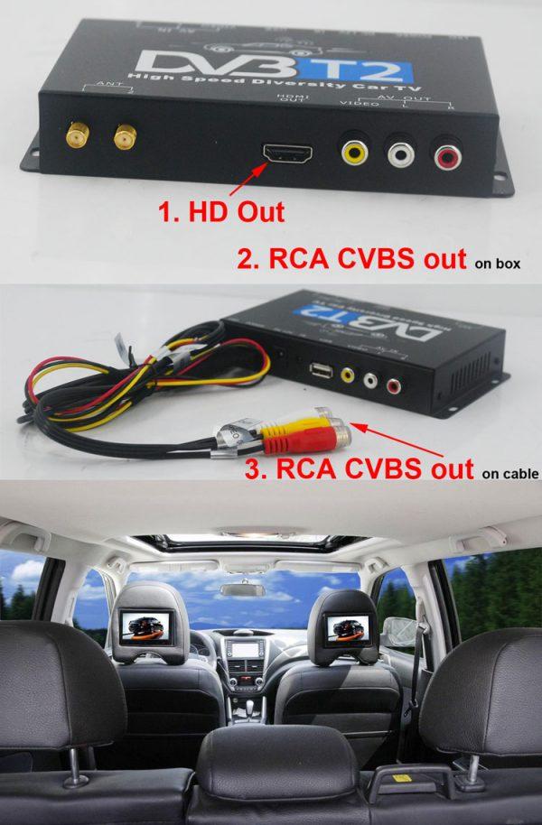 Mobil DVB-T2 Indonesia DVB-T High Speed Digital TV Receiver automobile DTV box DVB-T221 3 -