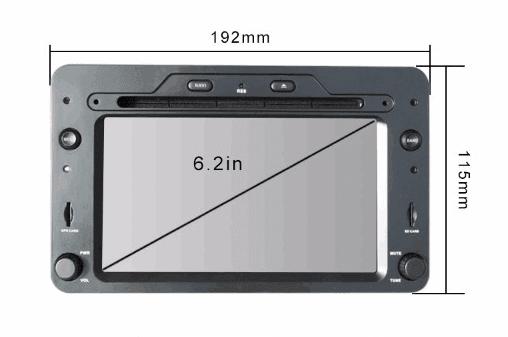Alfa Romeo android GPS VCAN1443 Quad Core 5.1.1 Car DVD GPS for 159 Sportwagon Spider Brera 3 -