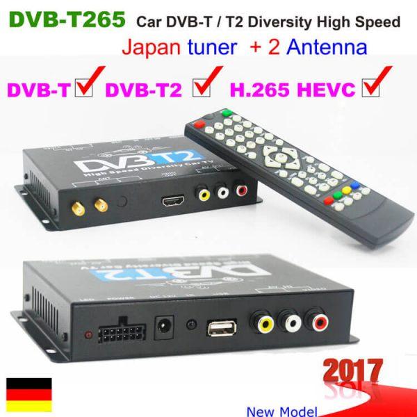 Bulgaria DVB-T2 H265 български HEVC Codec New Model DVB-T265 авто мобилна цифрова кола DVB-T2 тв приемник 1 -