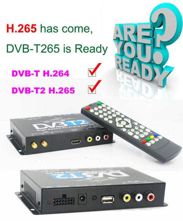 Bulgaria DVB-T2 H265 български HEVC Codec New Model DVB-T265 авто мобилна цифрова кола DVB-T2 тв приемник 4 -