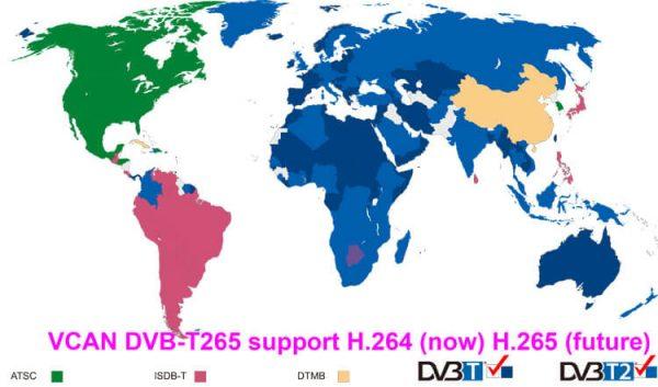 Bulgaria DVB-T2 H265 български HEVC Codec New Model DVB-T265 авто мобилна цифрова кола DVB-T2 тв приемник 3 -