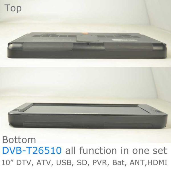 10 DVB-T2 H265 HEVC AC3 Codec Portable TV PVR Multimedia Player Analog kitchen bedroom car DVB-T26510 4 -