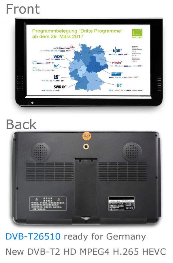 10 DVB-T2 H265 HEVC AC3 Codec Portable TV PVR Multimedia Player Analog kitchen bedroom car DVB-T26510 3 -
