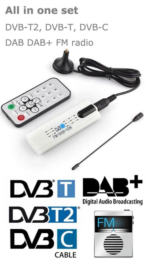 DVB-T2U USB DVB-T2 PC DTV receiver DVB-T2 DVB-T DVB-C SDR FMDAB TV stick 4 -