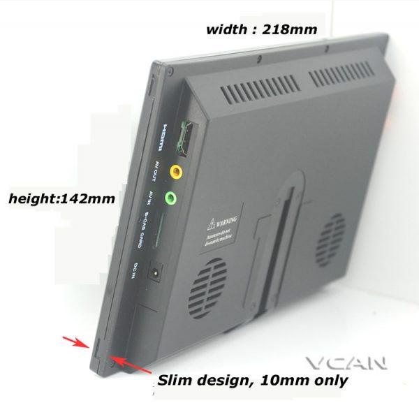 ISDB-T9 9 inch isdb-t full seg digital tv b-cas 2x2 tuner dual antenna with FM transmitter 4 -