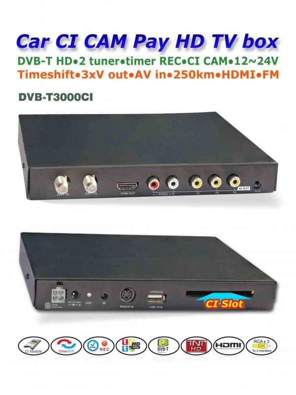 DVB-T3000CI In car MPEG2-4 CAM CI Module DVB-T DTV Europe TNT TDT CA 4 -