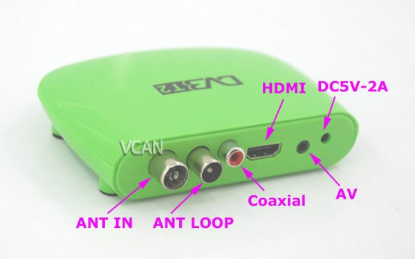 Mini HD DVB-T2 Home H.264 Set Top Box with USB support PVR 3 -