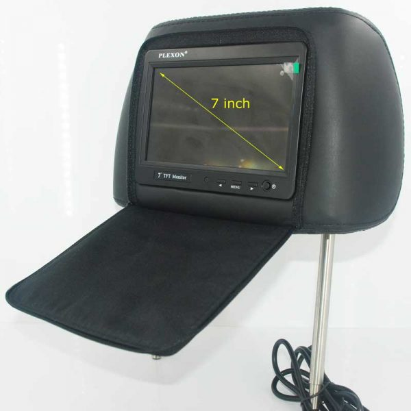 7 inch headrest monitor with pillow bag LED backlight cover zipper 1 -
