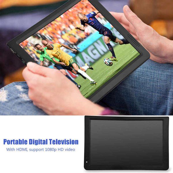 LEADSTAR 12 inch HD Portable TV ISDB-T USB Digital Television Mini Car TV Audio Video Player Support MP4 Monitor EU Plug 2 -