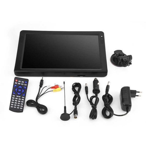 LEADSTAR 12 inch HD Portable TV ISDB-T USB Digital Television Mini Car TV Audio Video Player Support MP4 Monitor EU Plug 1 -