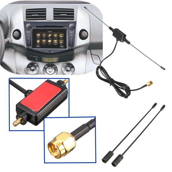 Universal Car Digital TV Antenna 5ft In Car Radio Digital DVB-T ISDB-T TV Signal 6dBi Antenna 433 MHZ Amplifier 6 -